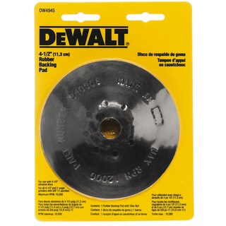 """4-1/2"""" Rubber Backing Pads"""