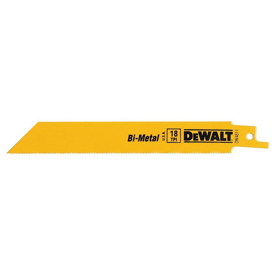 DeWalt 6-Inch Bi-Metal Recipricating Saw Blades