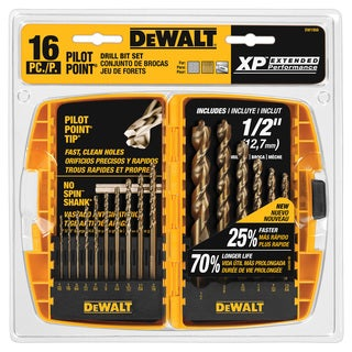 16-piece Pilot Point Drillbit Set