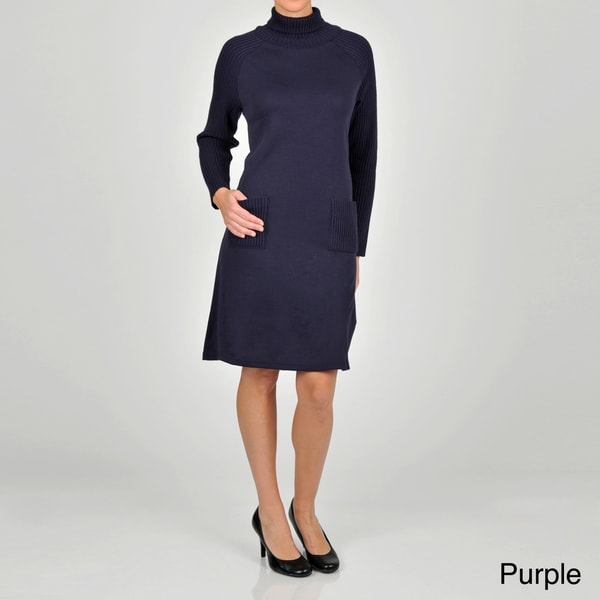 Lennie for Nina Leonard Women's Turtleneck Sweater Dress