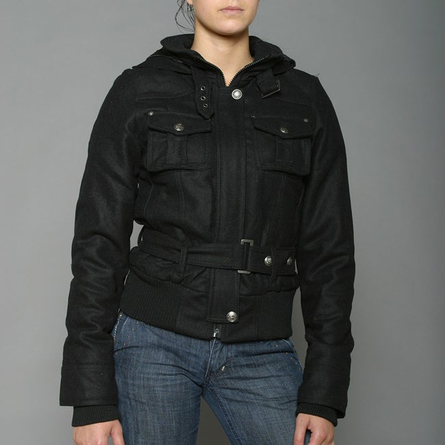 Soho Babe Women's Short Melton Coat