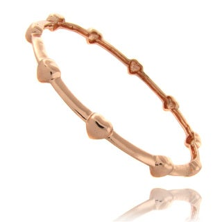 Molly and Emma Rose 14k Gold Overlay Children's Heart Bangle Bracelet