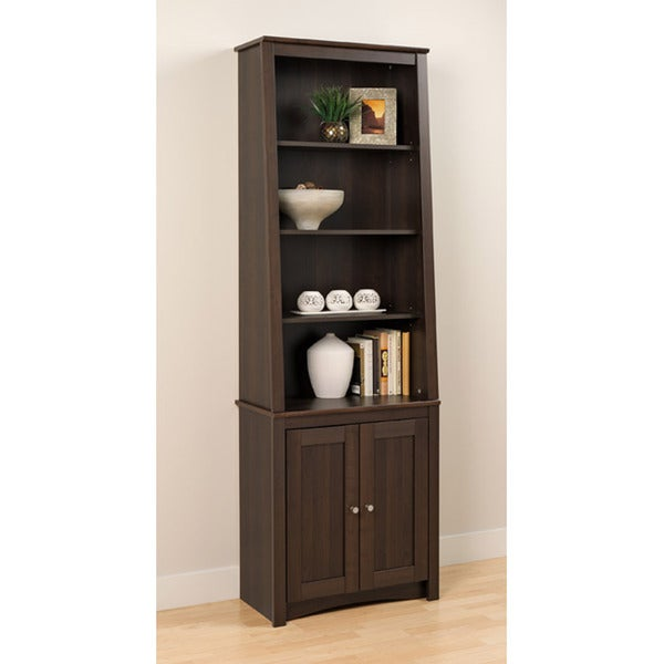 Everett Espresso Slant-back Shaker Door Bookcase