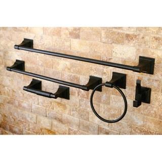 Oil Rubbed Bronze 5-Piece Bathroom Accessory Set