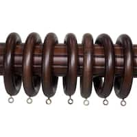 2-inch English Walnut Wood Curtain Rings (Set of 7) - 2