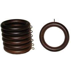 2inch english walnut wood curtain rings set of 7