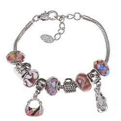 La Preciosa Cubic Zirconia Bead and Enamel Charm Bracelet