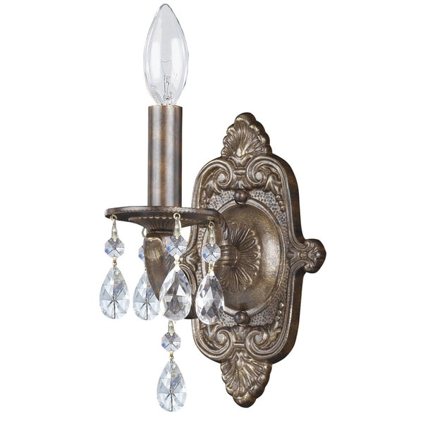 Crystorama Sutton Collection 1-light Venetian Bronze Wall Sconce