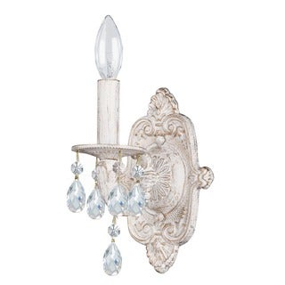Crystorama Sutton 1-light Wall Sconce in Antique White