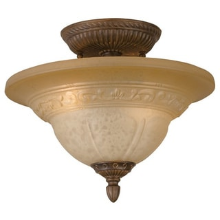 Crystorama Oxford 2-light Semi-flush in Venetian Bronze