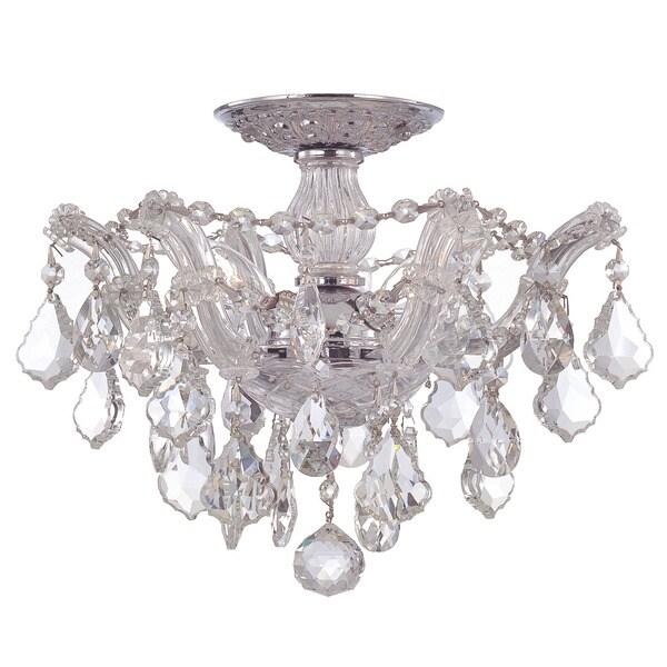 Crystorama Maria Theresa Collection 3-light Chrome Semi-flush Mount