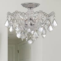 Crystorama Maria Theresa Collection 3-light Chrome Semi-flush Mount