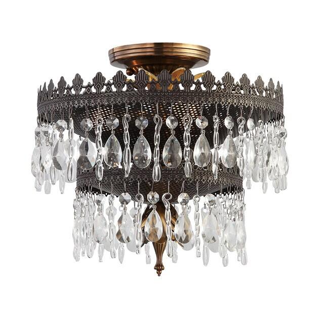Crystorama Alhambra Collection 3-light Fiesta Semi-flush Mount
