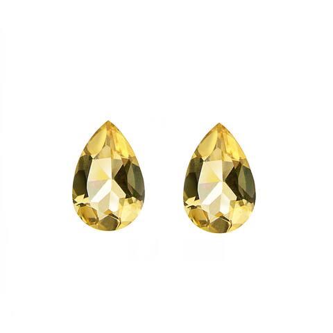 Glitzy Rocks Pear-cut 9x6mm 2 1/2ct TGW Citrine Stones (Set of 2)