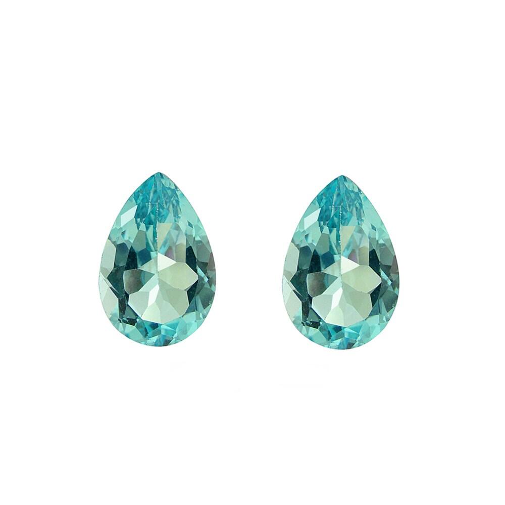 Glitzy Rocks Pear-cut 9x6mm 3ct TGW Blue Topaz Stones (Set of 2)