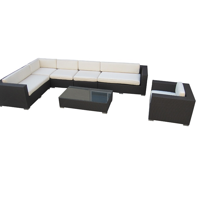 7-Piece All Weather Wicker Outdoor Sectional Set