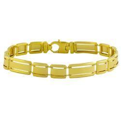 Fremada Gold over Sterling Silver Men's Designer Link Bracelet