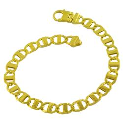 Fremada Gold over Sterling Silver Men's Mariner Link Bracelet