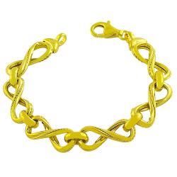 Fremada Gold over Sterling Silver Infinity Link Bracelet