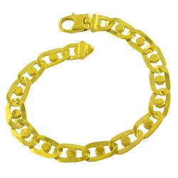 Fremada Gold Over Sterling Silver Men's Fancy Link Bracelet (8.5-inch)