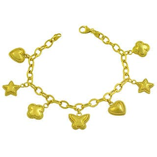 Fremada Gold over Sterling Silver Heart/ Star/ Flower Charm Bracelet|https://ak1.ostkcdn.com/images/products/6403442/P14013598.jpg?impolicy=medium
