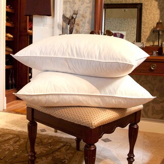 Cozy Cotton White Goose Feather Pillows (Set of 2) (2 options available)