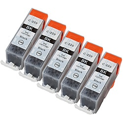 Sophia Global PGI-220 Black Ink Cartridges (Pack of 5) (Remanufactured)