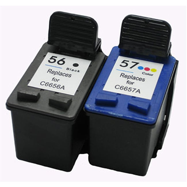 HP 56 and HP 57 Black and Color Ink Cartridges (Remanufactured) (Pack of 2)