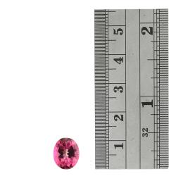 Glitzy Rocks Oval-cut 11x9mm 3 3/5ct TGW Pink Topaz Stone - Thumbnail 2