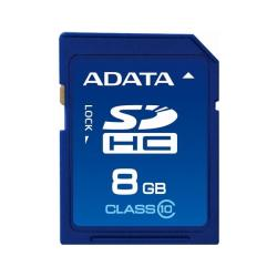 A-Data 8GB SDHC Class 10 Flash Memory Card with Enhanced DSC Function