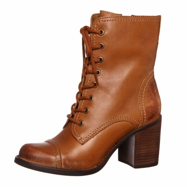 e376489ac23 Shop Steven by Steve Madden Women's 'Whit' Cognac Lace-up Boots ...