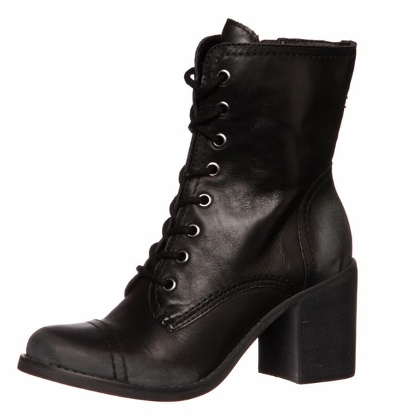 steve madden black lace up boots