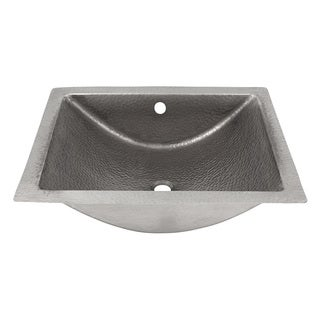 Hammered Undermount Bathroom Sink 24-inch artisan hammered nickel undermount bathroom sink - free