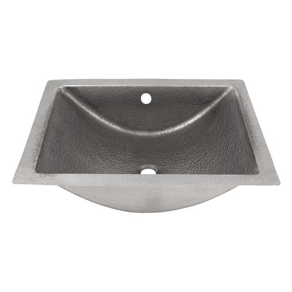 The Copper Factory Solid Copper Hand Hammered Concave Undermount Lavatory Sink