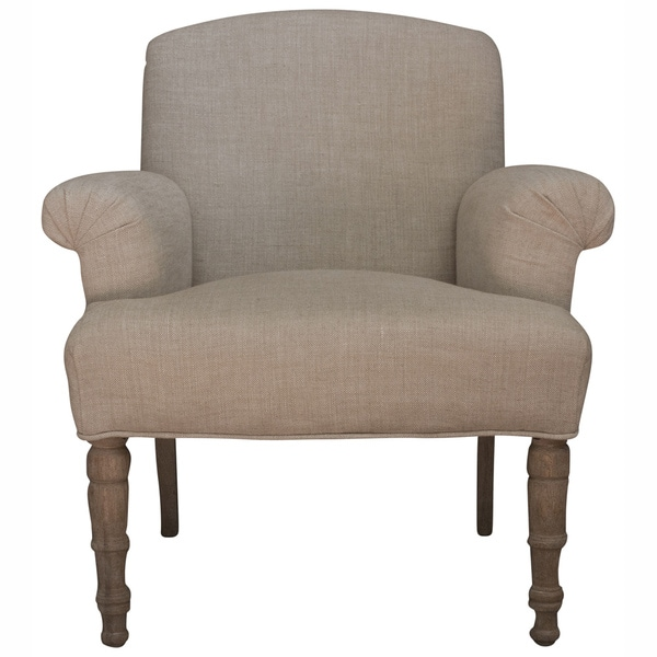 nuLOOM Casual Living Weathered Vintage French Upholstered Linen Arm Chair