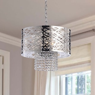 Hermosa 4-Light Chrome and Crystal Chandelier
