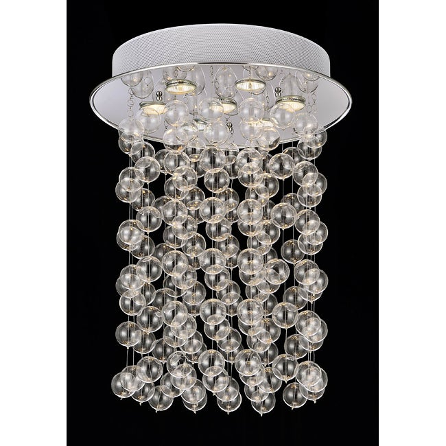 Floating Glass Bubble 7 Light Flushmount Ceiling Chandelier