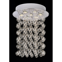 Floating Glass Bubble 7-light Flushmount Ceiling Chandelier