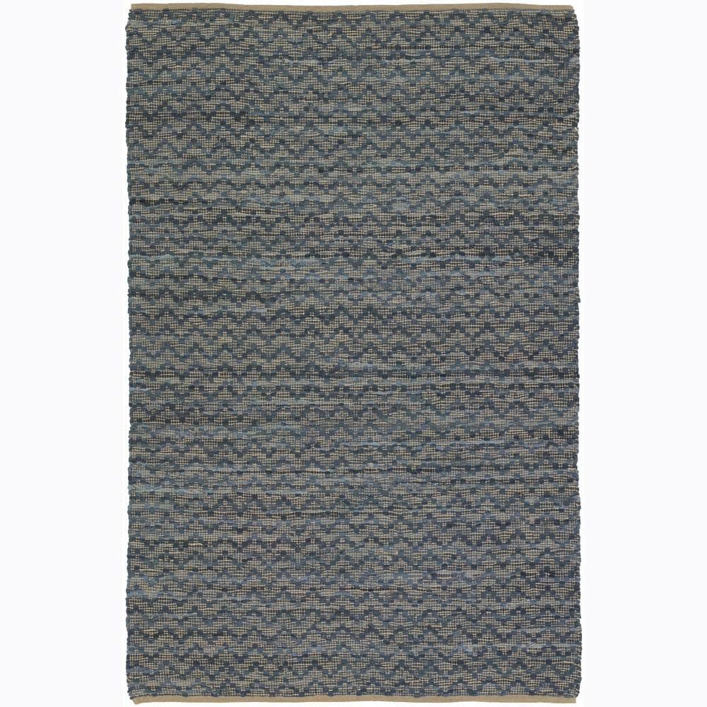 Hand-woven Mandara Tan Rug (5' x 7'6)