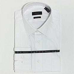 Men's White Herringbone Fine Cotton Shirt