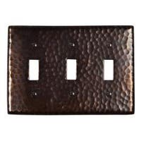 Solid Copper Triple Switch Plate Cover