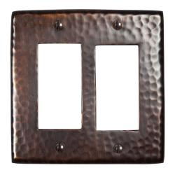 Solid Copper Double GFI Plate