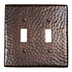 Solid Copper Double Switch Plate