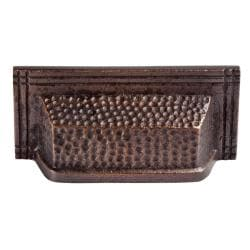 Antiqued Solid Copper Rectangular Bin Pull (Set of 2)