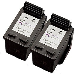 HP 56 Black Ink Cartridge (Pack of 2) (Remanufactured) - Thumbnail 0