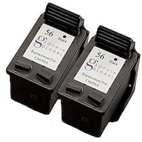 HP 56 Black Ink Cartridge (Pack of 2) (Remanufactured)