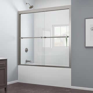 DreamLine Duet 56 to 59-inch Frameless Bypass Sliding Tub Door