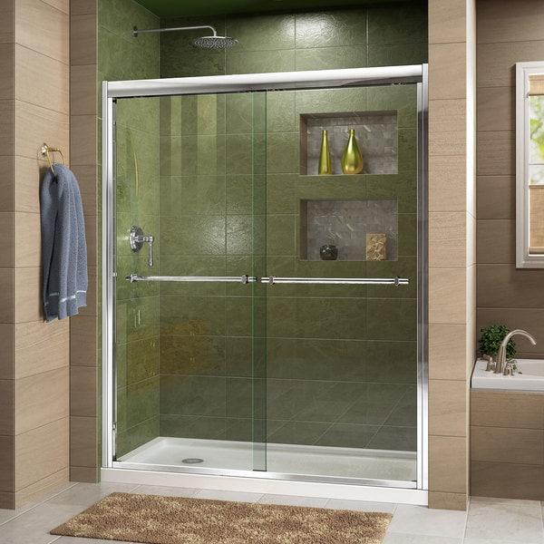 clear polished sliding x htm stainless steel dreamline shower inch glass shen door enigma doors frameless enclosure