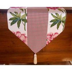 RLF Home Ashton Peony Raspberry Tasseled Table Runner - Thumbnail 1
