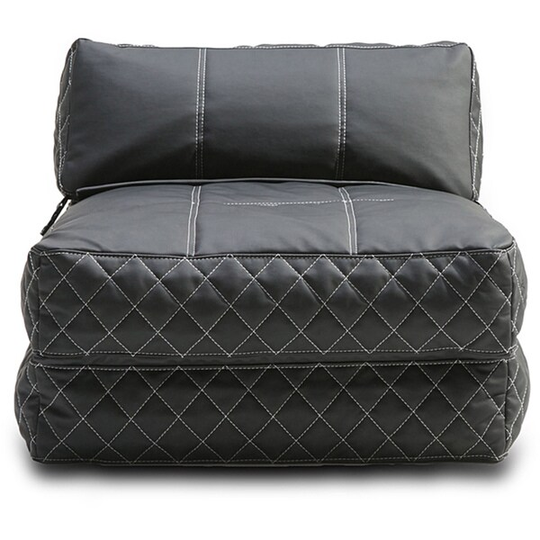 Shop Austin Black Bean Bag Chair Bed Free Shipping Today